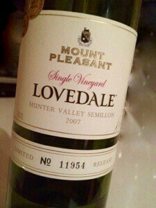 Lovedale semillon
